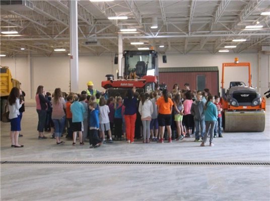 Students Tour In-Progress Dickinson Public Works Building